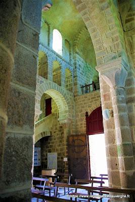 Châtel-Montagne, l'église Notre-Dame, Allier.