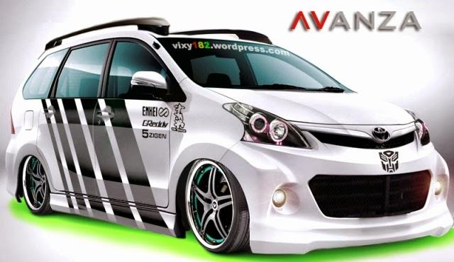Modifikasi mobil Toyota Avanza Ceper