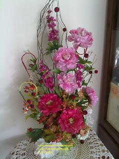 I Gubahan Bunga Artifical Sudut Dinding Kombinasi Purple Dark Dan Soft Rm90 00 Sold Out
