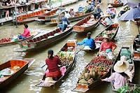 Плаващ пазар в Банкок, Тайланд
