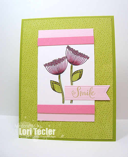 Smile card-designed by Lori Tecler/Inking Aloud-stamps from Verve Stamps