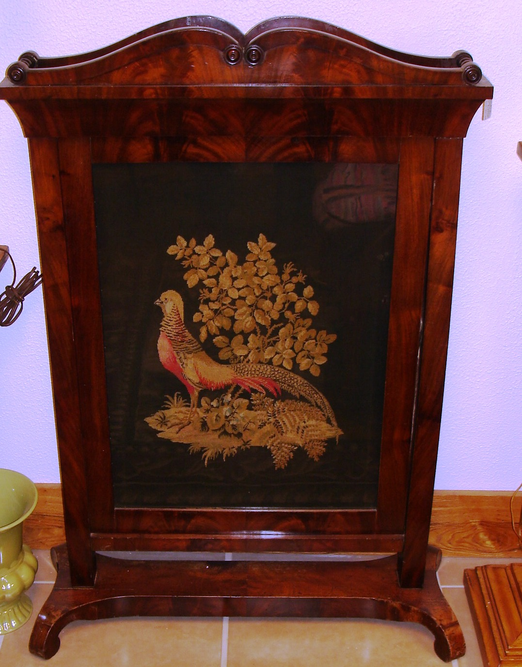 Baron Von Balsiger's Antiques: Fantastic Fireplace Screen Circa 1880