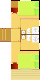 Casa mobile con due abitazioni sopra
