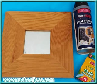 Craft: How I made my chalkboard mirror