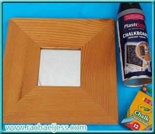 Craft: How I made my chalkboard mirror