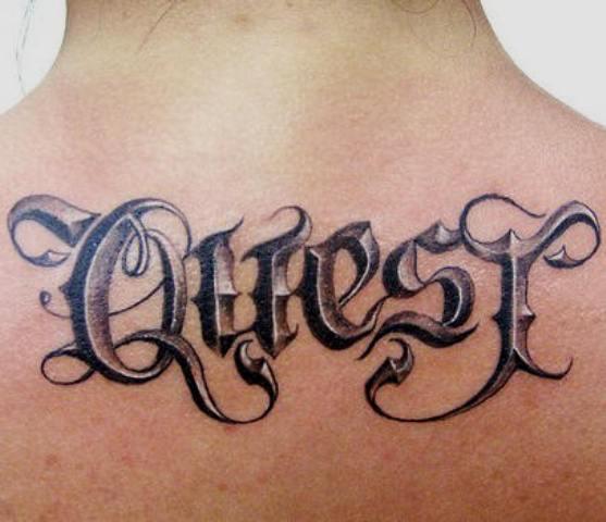 """Tattoo Ideal: """"Fonts Script"""" 3D Tattoos"""