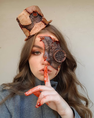 steampunk makeup how to DIY special fx makeup and prosthetics bloody gore scary Halloween