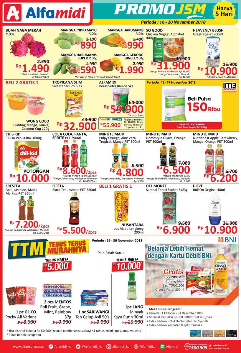 Alfamidi - Promo Katalog JSM Periode 16 - 20 November 2018