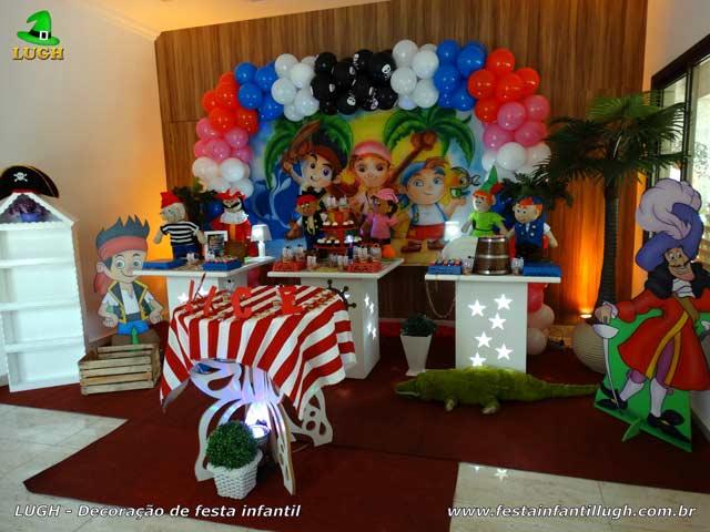 Decoração tema Jake e os Piratas da Terra do Nunca - festa de aniversário infantil - Barra-Rio de Janeiro-RJ