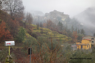 Foggy walk in Tuscany, Italy