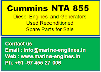 Cummins diesel engine spare parts, NTA 855, used, reconditioned, second hand