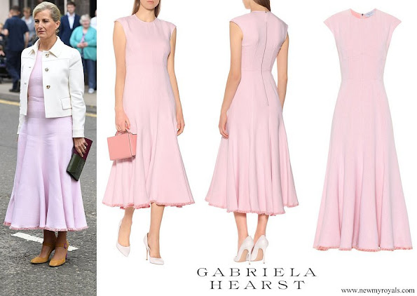 The Countess of Wessex wore a Gabriela Hearts crowther crêpe maxi dress