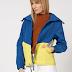 Jacheta femei de firma cu model colorblock si snur in talie EDC by Esprit