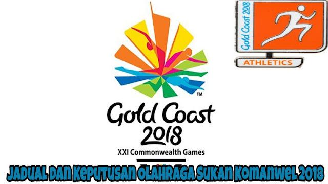 Jadual dan Keputusan Olahraga Sukan Komanwel 2018