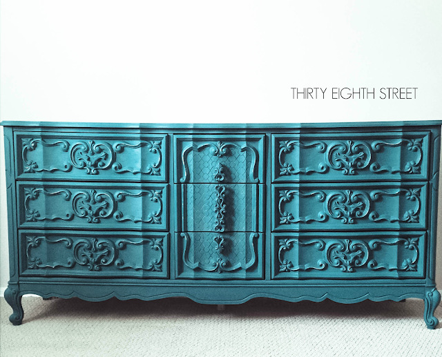 turquoise furniture, furniture makeovers, furniture before and afters, furniture inspiration, painted dressers, how to use color in your space
