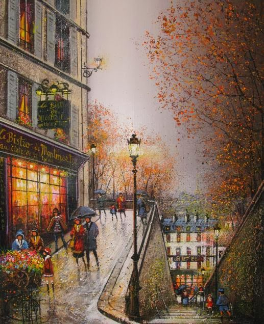 Guy Dessapt Paris Autumn French Painter 1938 Fine Art And You