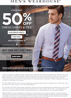 free Men's Wearhouse coupons for february 2017