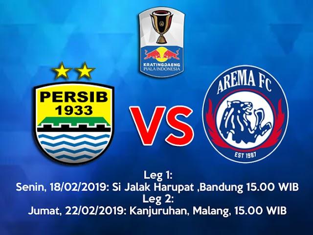 Persib VS Arema FC Digelar Tanggal 18 dan 22 Februari 2019
