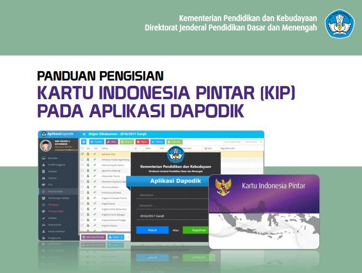 Download Buku Panduan Pengisian Kartu Indonesia Pintar (KIP) pada Aplikasi Dapodik Tahun 2016 Format PDF