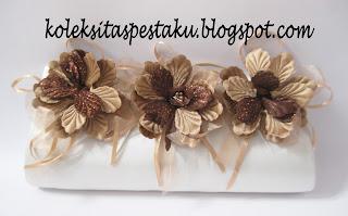 Tas Pesta Putih Bunga Bunga Cream Mewah Elegant