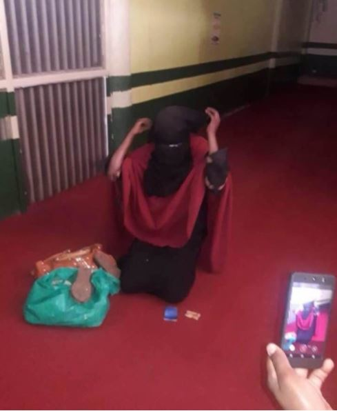 Young Lady Who Disguised Herself In Hijab To Steal Gets Nabbed In The Act (Photos)