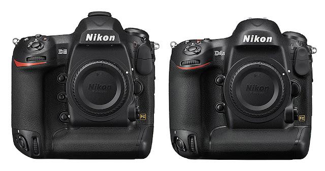 Камеры Nikon D5 и D4s вид спереди