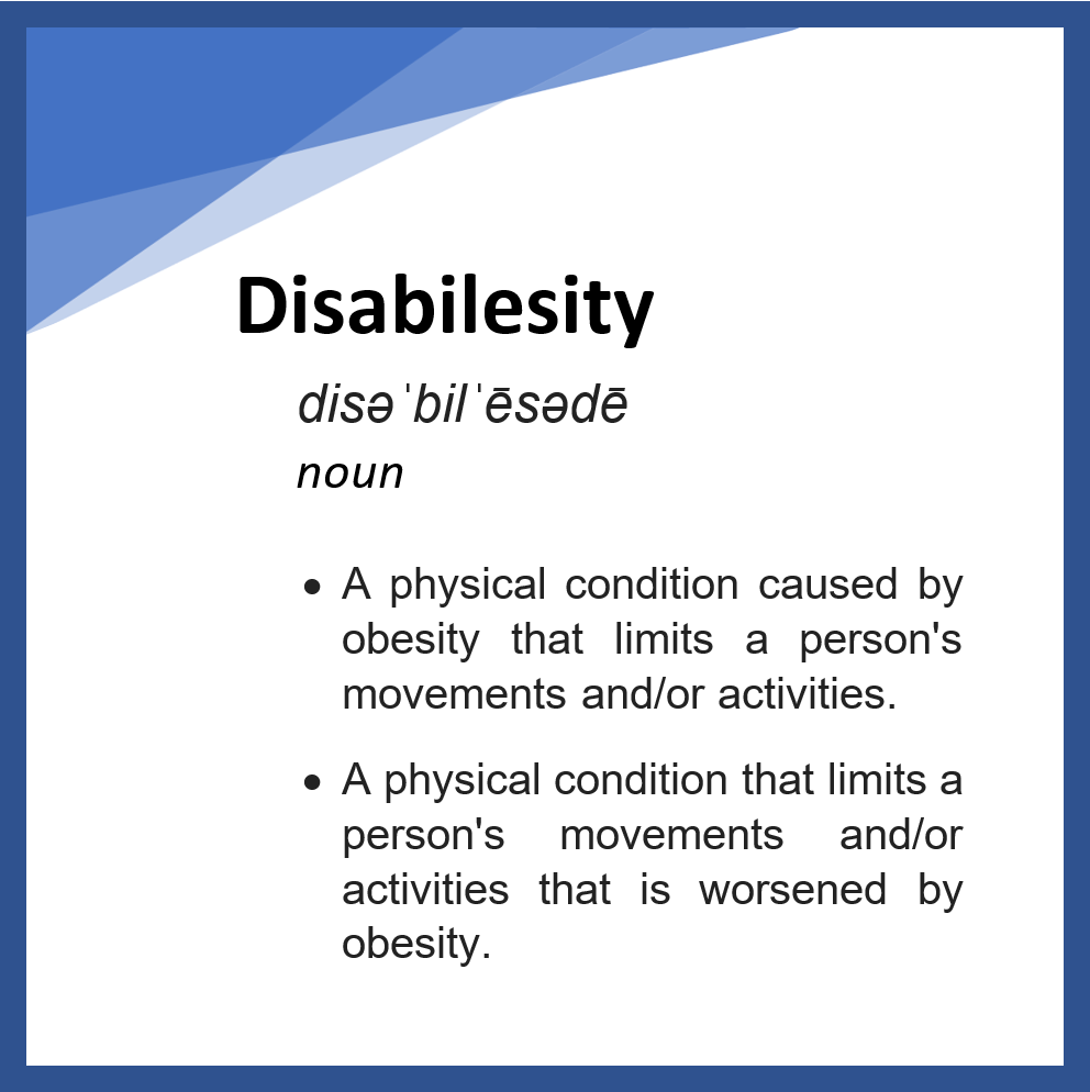 Disabilesity ~ Part II: An Epidemic?
