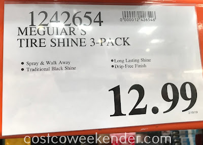 Deal for a 3 pack of Meguiar's Classic Tire Shine at Costco