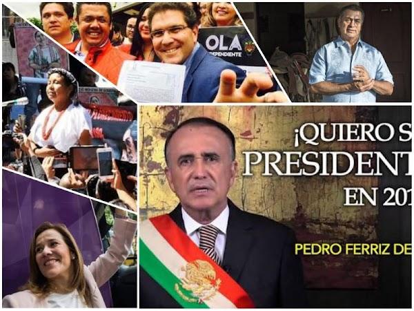 Se han registrado 24 independientes por la presidencia, la mayoría son ex del PRI, PAN y PRD