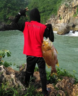 Mancing di pantai gesing gunug kidul, dapat ikan kampur besar