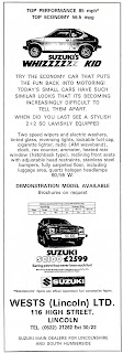 Wests of Lincoln 1981Suzuki dealer advert