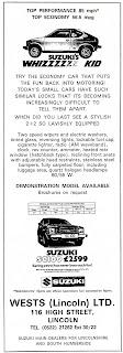 Wests of Lincoln 1981Suzuki dealer advert