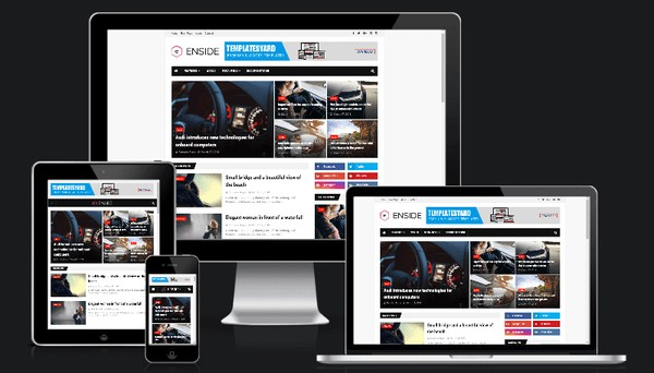Enside News Magazine Responsive Blogger Templates