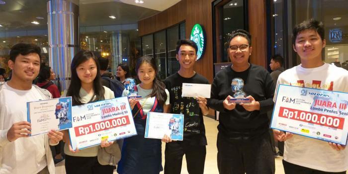 SMA Kalam Kudus Raih Juara 3 Lomba Pensi dan Mading 3D
