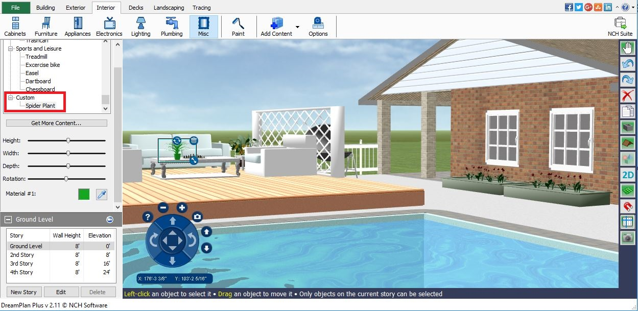 You Can Rotate Or Resize Objects Before Or After Moving Them In Your Home  Design Project. You Can Also Change The Color Of The 3D Models That You  Have ...