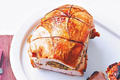 Fig and pistachio stuffed turkey  meal ideas