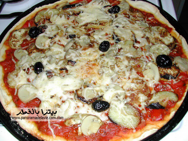 طريقة عمل  بيتزا بالفطر