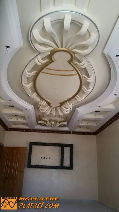 D coration couloir platre for Decoration plafond couloir