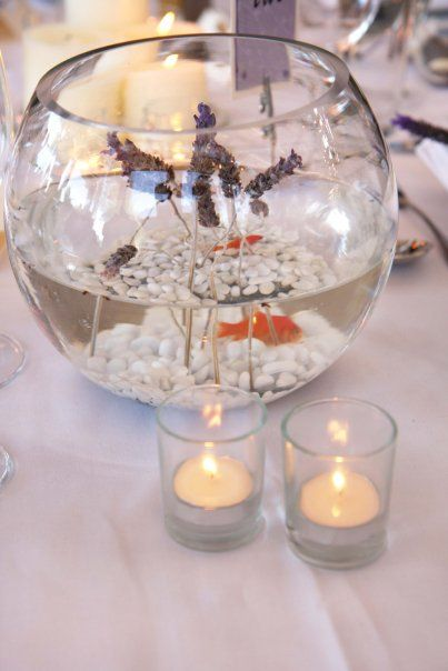 Wedding Fish Bowl Decoration Ideas For Table