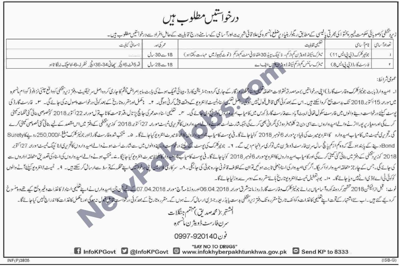 Jobs-in-Forest-Department-Mansehra-Division-October-2018