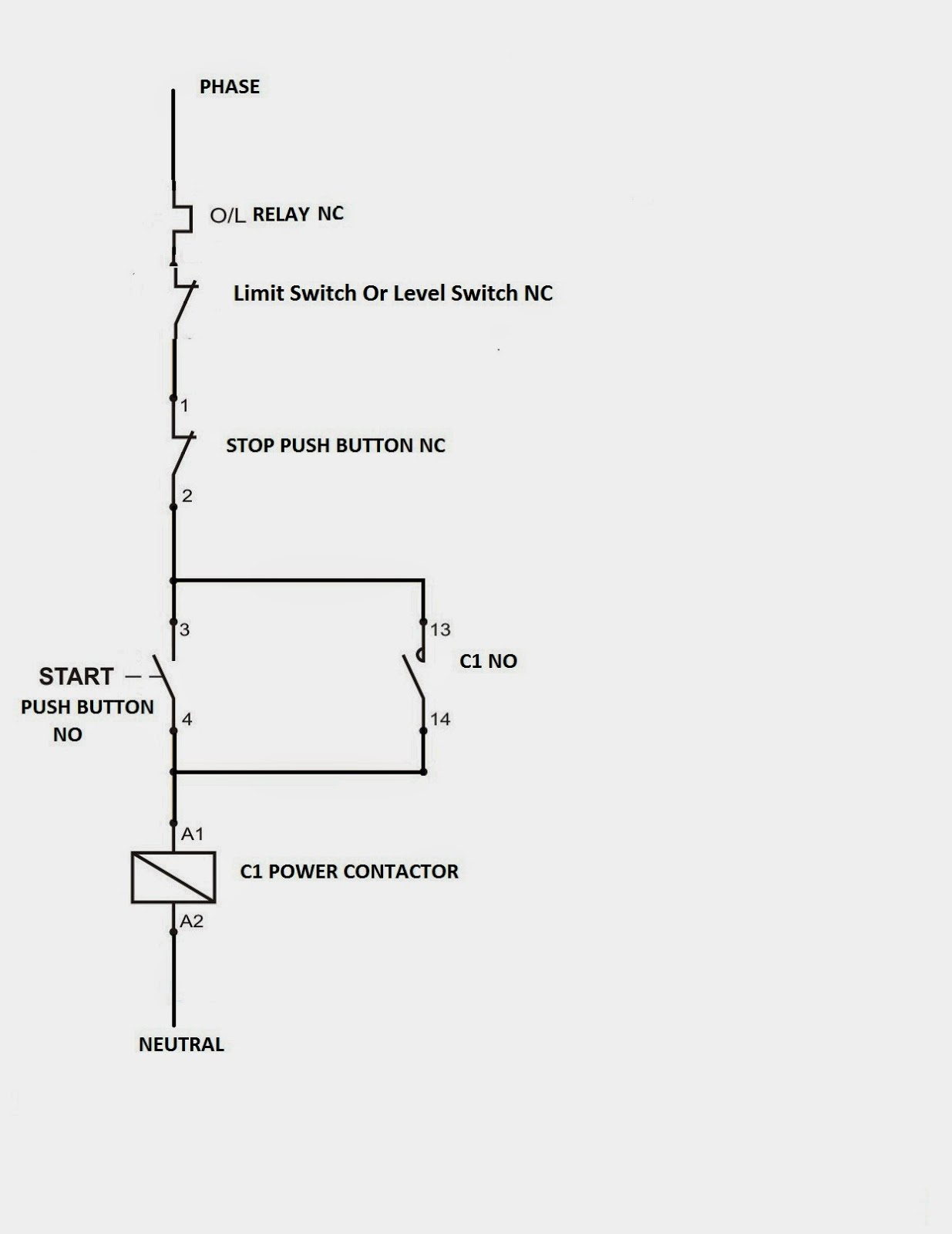 DOL Circuit with Limit Switch; DOL Level Switch Circuit
