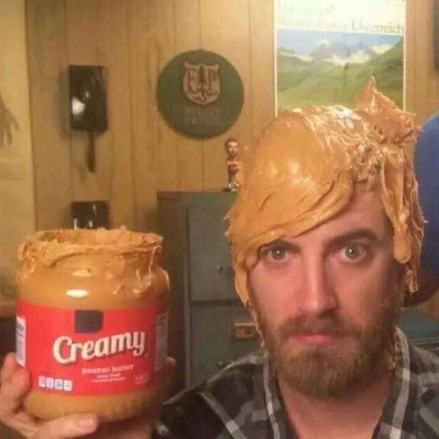 Funny Peanut Butter Hair Cream Picture