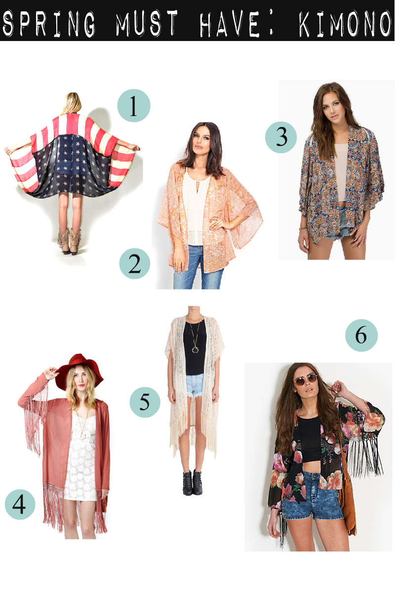 Spring Must Have Items: Ohsummercandy: Spring Must Have: Kimono