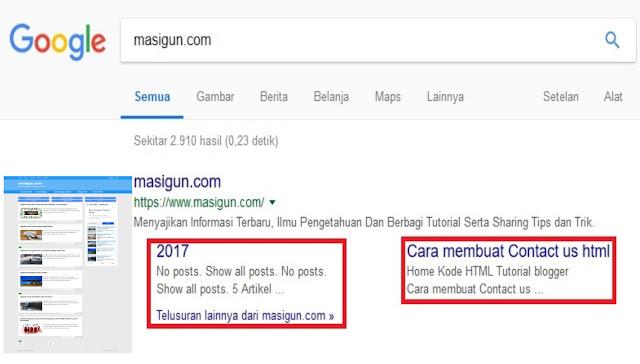 Cara cepat mendapatkan sitelink dari google