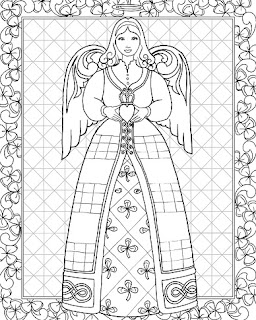 jim shore angel coloring book  st patricks sample