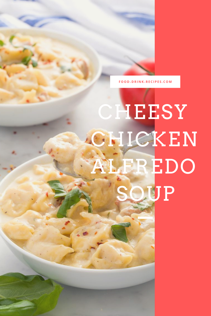 Cheesy Chicken Alfredo Soup - food-drink-recipes.com