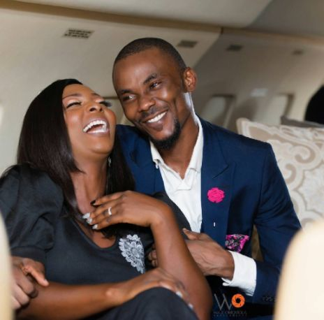 Nigerian Couple Share Lovely Pre-Wedding Photos In A Jet