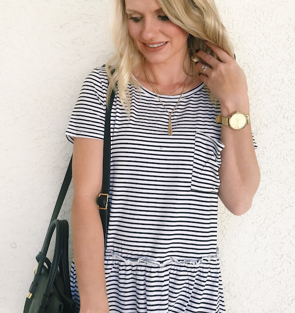 Thrifty Wife, Happy Life- Shein Reveiw- Stripe peplum top