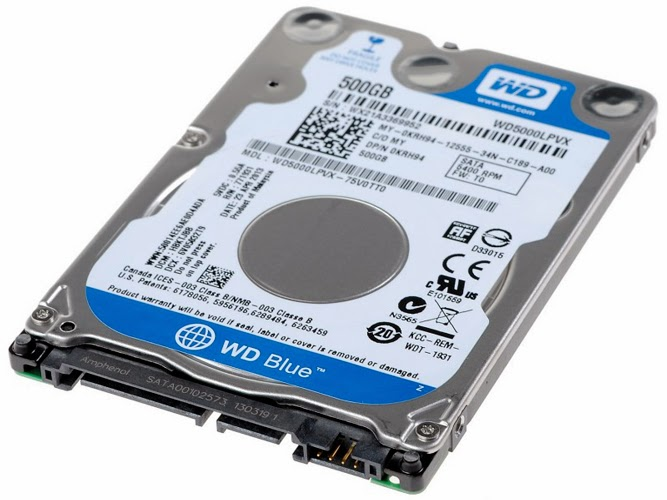 """Western Digital Blue 500GB 2.5/"""" 5400RPM SATA HDD WD5000LPVX Laptop Hard Drive"""