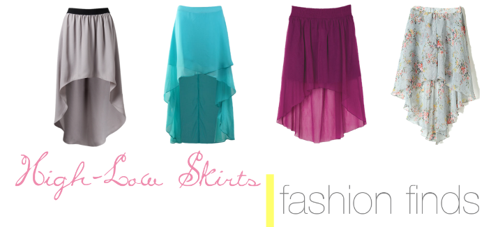 Fashion Finds   High-Low Skirts